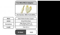 FLX Mini-Jack/RCA Splitter - Splitters en RCA Adaptors